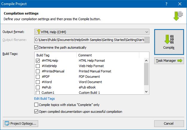 html help file to pdf converter online